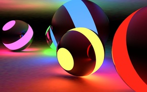 Picture abstraction, balls, balls