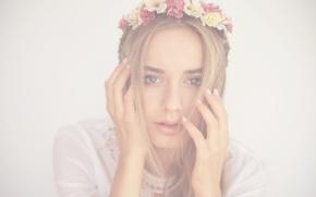 Picture girl, tattoo, wreath, Sonya Esman