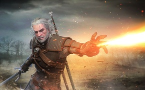 Picture geralt, Witcher, Gwynbleidd, The Witcher 3: Wild Hunt, Geralt of Rivia, White Wolf, Butcher of …