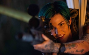 Picture strong, Ruby Rose, pretty girl, rifle, assassin, wallpaper, XXX Return of Xander Cage, tatoo, beautiful, ...