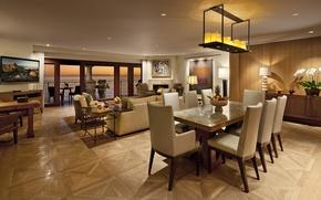 Picture design, house, style, Villa, interior, living room