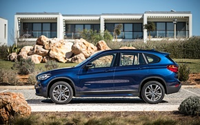 Wallpaper blue, stones, BMW, BMW, xDrive, SUV, Sport Line, 2015, F48