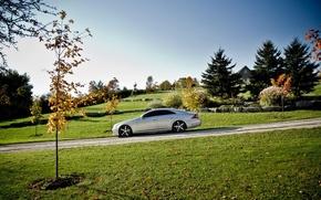 Picture road, landscape, nature, tuning, CLS, car, Mercedes Benz, Mercedes