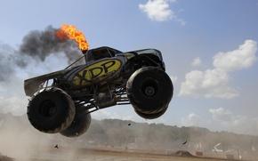 Picture jump, diesel, monster truck