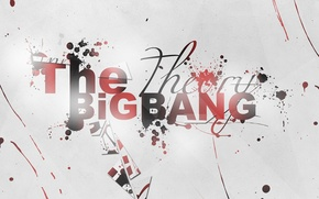 Picture background, the inscription, texture, the series, the big Bang theory, big bang theory