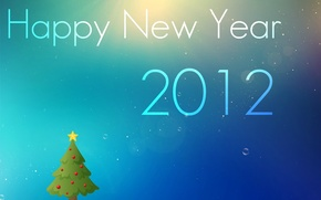 Picture the inscription, Wallpaper, spruce, New year, 2012, happy, wallpapers, new, year, Christmas