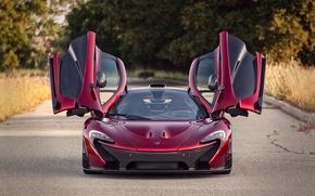 Picture road, up, door, McLaren P1