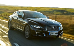 Picture Jaguar, Jaguar, car, sedan, the front, Autobiography, XJ L