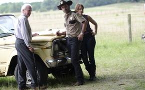 Picture actors, The Walking Dead, Andrew Lincoln, Lauren Cohan, Scott Wilson