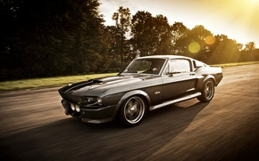 Picture road, Mustang, Ford, GT500, Ford Mustang, Shelby Eleanor