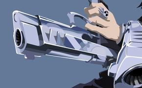 Picture wallpaper, sake, gun, blood, pistol, weapon, style, anime, power, short hair, boy, ring, fang, hero, …
