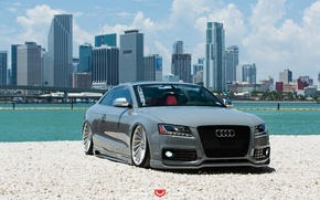 Picture machine, auto, water, Audi, Audi, before, wheels, drives, auto, Vossen Wheels