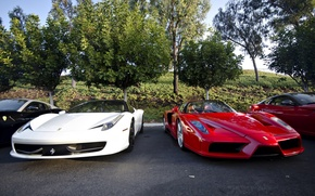 Picture Ferrari, red, supercar, enzo, front, 458 italia