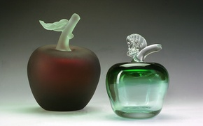 Picture glass, Apple, leaf, crystal, decor, Gus ' -Khrustal'nyy