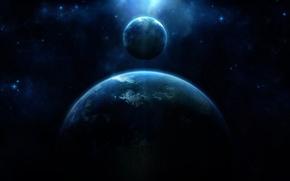 Picture light, blue, energy, planet
