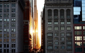 Picture Chicago, National Geographic, Sunset, Downtown, Architecture Buildings