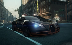Picture Bugatti, Veyron, 2012, Need for Speed, nfs, Most Wanted, NSF, NFSMW