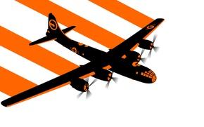 Wallpaper vector, bomber, the plane