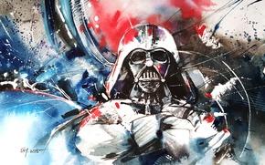 Picture pose, paint, figure, hands, helmet, star wars, darth vader