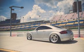 Picture Audi, Audi, profile, sports car, silver, stance