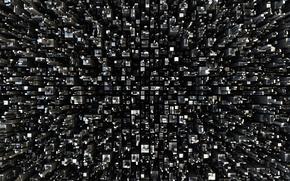 Wallpaper squares, black and white