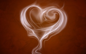 Picture mood, heart, coffee, heart, aroma, brown background, coffee aroma