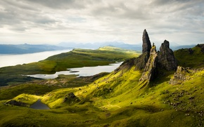 Picture mountains, morning, scotland, Old Man of Storr