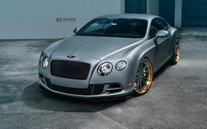 Picture Bentley, Continental, Speed, Matte, Gray, Wheels, Strasse