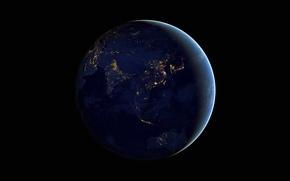 Picture lights, photo, Australia, Earth, Asia, NASA
