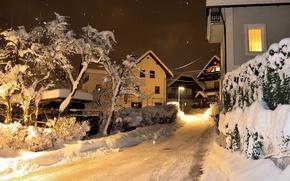 Picture winter, snow, street, Winter, Slovenia, Slovenia