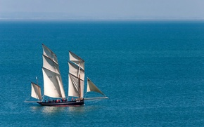 Picture sea, sailboat, lugger, The Cancalaise