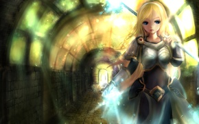 Picture girl, weapons, magic, the tunnel, art, league of legends, lux, zhang xiao bo