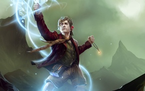 Picture magic, the Lord of the rings, art, lord of the rings, Bilbo Baggins, trading card …