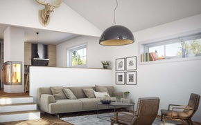 Picture design, style, interior, living space, Scandinavian