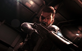 Picture dude, gun, cool, Snake, metal gear solid 5 ground zeroes