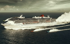 Wallpaper race, boats, Liner, sea
