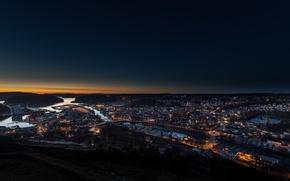 Picture night, lights, Norway, Halden, Halden
