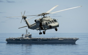 "Wallpaper helicopter, flight, multipurpose, Seahawk, the carrier, Sikorsky SH-60F, ""Sea Hawk"""