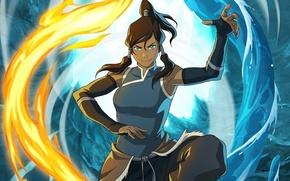 Picture water, fire, element, magic, art, Avatar, Avatar, Korra, Times, The Legend of Korra, Avatar: the …