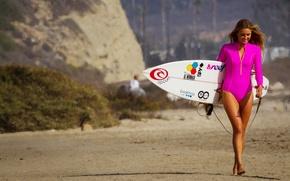 Picture beach, smile, Alana Blanchard, surfboard
