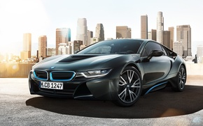 Picture car, the city, BMW, concept, rechange, hq Wallpapers, beautiful pictures, bmw i8
