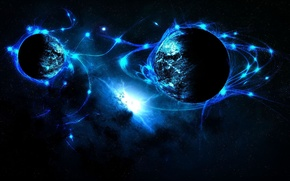 Picture space, Space, Blue planet