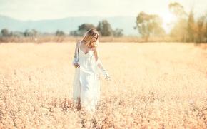 Picture field, girl, Alessandro Di Cicco, Softness