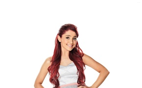 Wallpaper actress, white background, singer, Ariana Grande, Ariana Grande