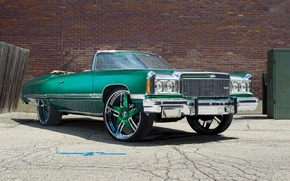 Picture chevrolet, tuning, caprice, 1974, green donk