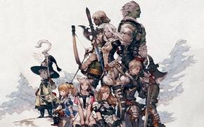 Picture sword, war, bow, final fantasy, yoshida dies in