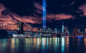 Picture City, World, Bridge, Center, Manhattan, New-York, 9/11, Trade