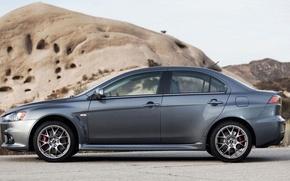 Picture Mitsubishi Lancer, Cars, silver color