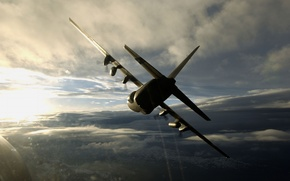 Wallpaper military transport, Lockheed C-130 Hercules, the plane, Hercules