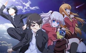 Picture girls, anime, guys, Charlotte, Charlotte